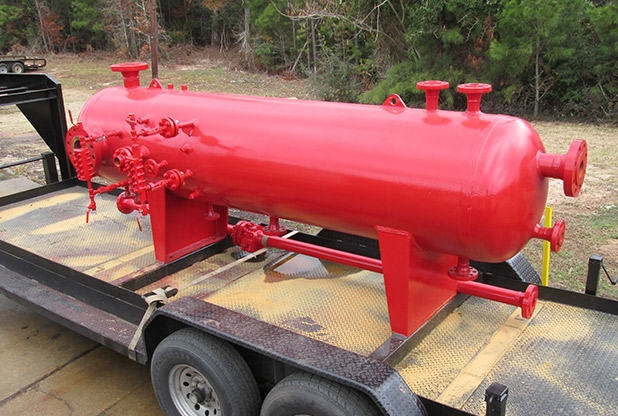 "30""OD X 10' L X 1440 PSI Trailer Mounted Separator"